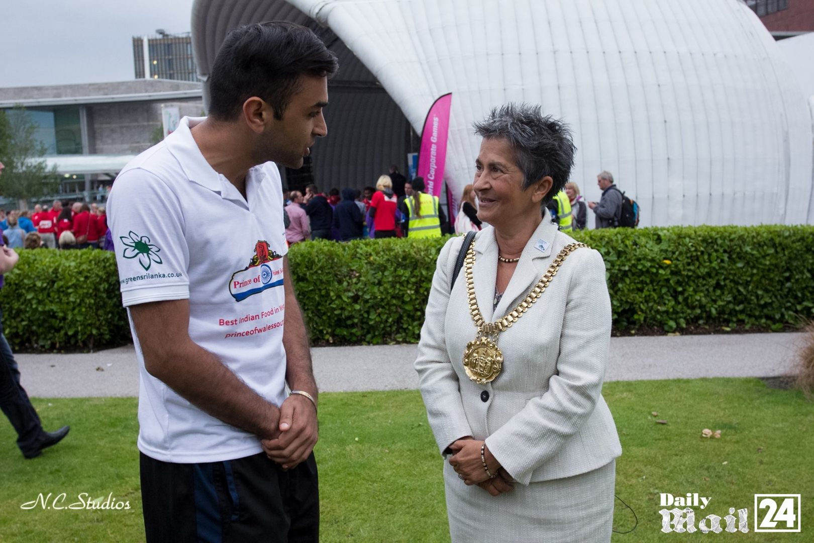 World corporate games hosted by Kiran Rai and met super bowl president and Lord Mayor of Liverpool