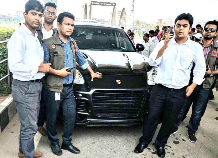 Customs has recently seized luxurious Porsche at Hatirjheel
