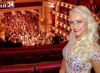 Austrian beauty queen Eva visited the world famous Viennese Operaball
