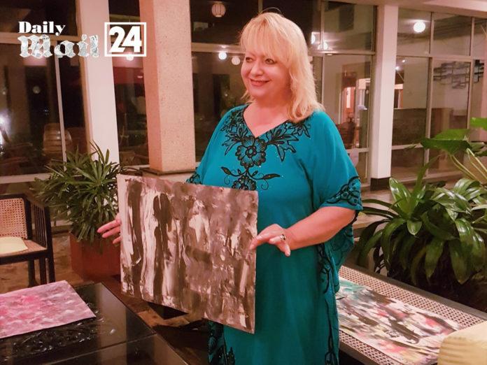 The featured Artist Cornelia Steckhan Corky Art