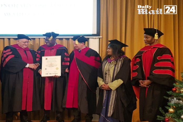 Mr Robert Ngwenya has been conferred the honorary award